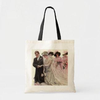 Vintage Victorian Wedding Ceremony, Bride Groom Bag