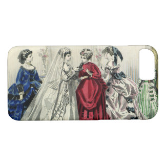 Vintage Victorian Wedding Party Bridal Portrait iPhone 7 Case