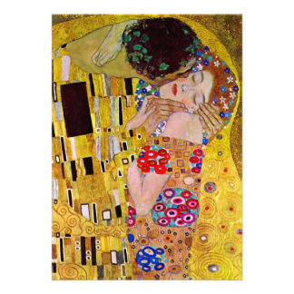 Vintage Victorian Wedding The Kiss by Klimt Personalized Invitations