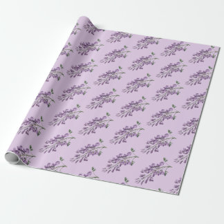 Vintage/Victorian Wisteria Flowers Wrapping Paper