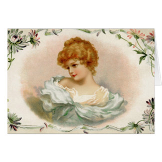 Vintage Victorian Woman Card