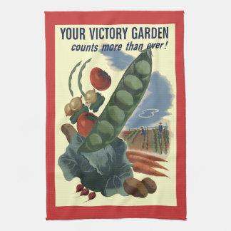 Vintage Victory Garden Kitchen Towel