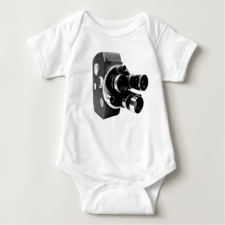 vintage video camera baby bodysuit