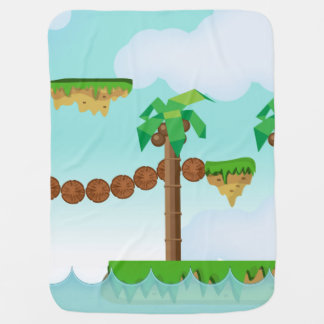 Vintage Video Game Palm Trees. Baby Blanket