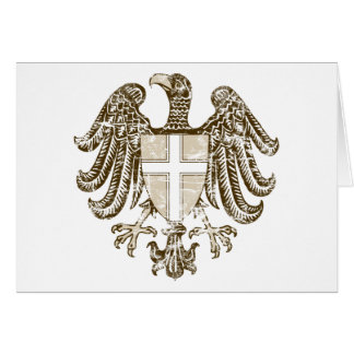 Vintage Vienna Coat Of Arms Card