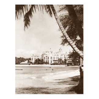 Vintage View Honolulu Hawaii Pink Palace Postcard
