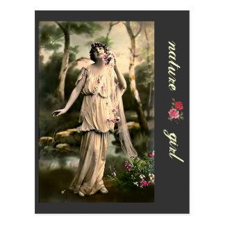 Vintage VIII_Nature Girl Postcard