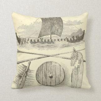 Vintage Vikings Artwork and Illustrations Cushion