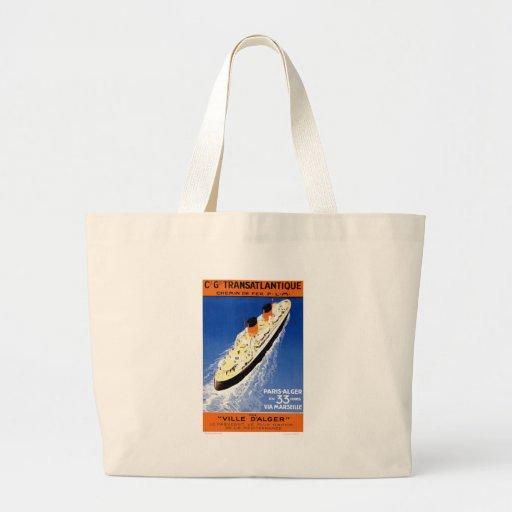 Vintage Ville D'Alger Canvas Bags