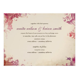 Vintage Vine Wedding Invitation