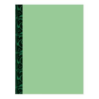 Vintage Vines Dark Green Postcard