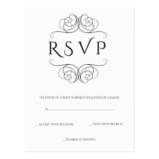 Vintage vines wedding rsvp postcards