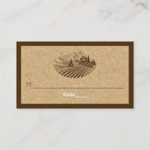 Cork business cards business card printing zazzle vintage vineyard and cork wedding place card colourmoves