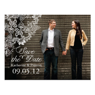 Vintage Vineyard Photo Save the Date Postcard