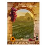 Vintage Vineyard Wedding Photo Thank You Postcard