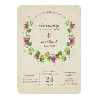 Vintage Vineyard | Wine Themed Wedding Invitation