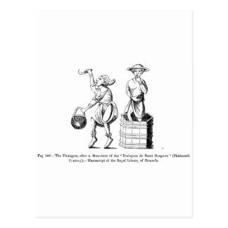 Vintage Vintagers (winemakers/harvesters) Postcard