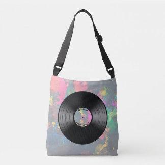 Vintage Vinyl Music Record Nightclub Or Dance Fan Crossbody Bag