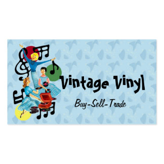 Vintage Vinyl Record Business Card