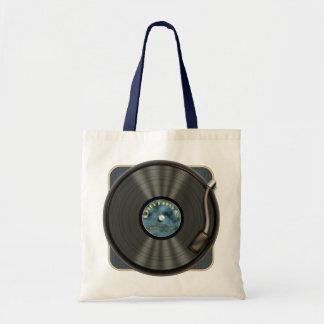 Vintage Vinyl Record Tote Bag
