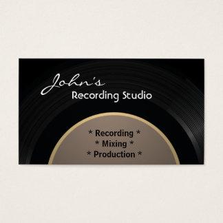 Vintage Vinyl Recording Studio Business Card