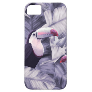 Vintage Violet Toucan Tropical Banana Leaves iPhone 5 Cover