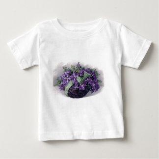 Vintage Violets Basket Baby T-Shirt