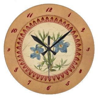 Vintage Violets Clock