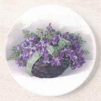 Vintage Violets Coaster