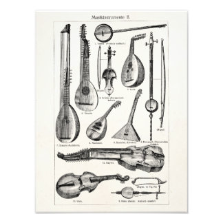 Vintage Violin Cello String Musical Instruments Photo