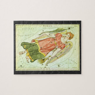Vintage Virgo, Virgin, Antique Signs of the Zodiac Jigsaw Puzzle