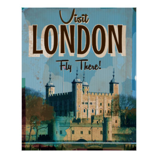 Vintage Visit London - Fly There Poster