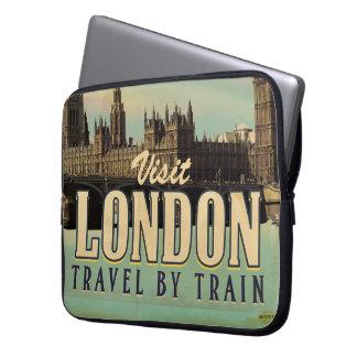 Vintage Visit London poster Laptop Sleeve
