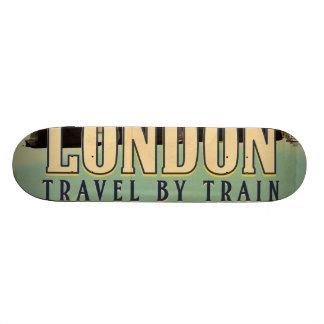 Vintage Visit London poster Skate Board Deck