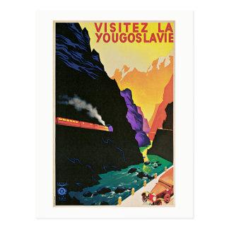 Vintage Visit Yugoslavia Travel Postcard