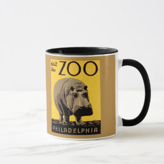 Vintage visit Zoo Philadelphia, hippopotamus Mug