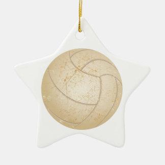 vintage volleyball ceramic star decoration