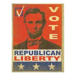 Vintage Vote Republican Party 2016 Election Postca Postcard