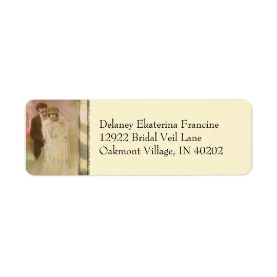 Vintage Vows - Oakmont in Yellow Return Address Label