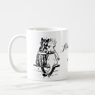 Vintage Wain Cat Home Art Coffee Mug