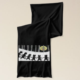 Vintage Wain Cats Dancing in the Moonlight Scarf