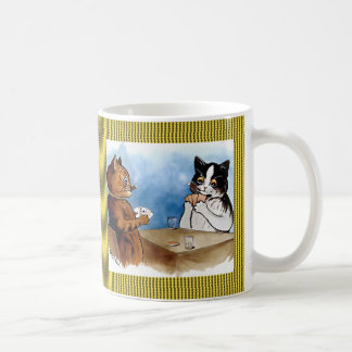 Vintage Wain Cats Playing Poker Art Coffee Mug