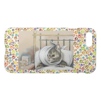 Vintage Wain Sick Tabby Cat Art iPhone 7 Case