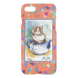 Vintage Wain Teapot Cat Art iPhone 7 Case