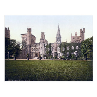 Vintage Wales, Cardiff Castle c1910 Postcard