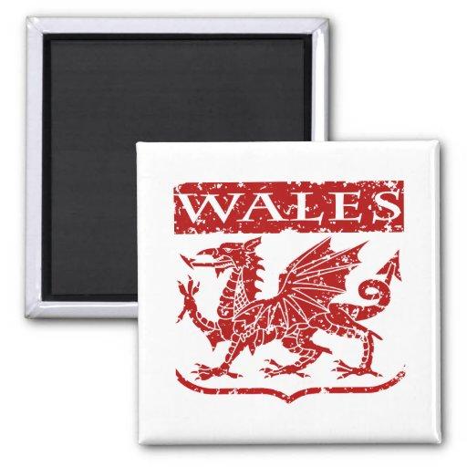 Vintage Wales Magnets