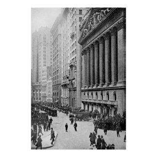 Vintage Wall Street NYC Photograph (1921) Poster