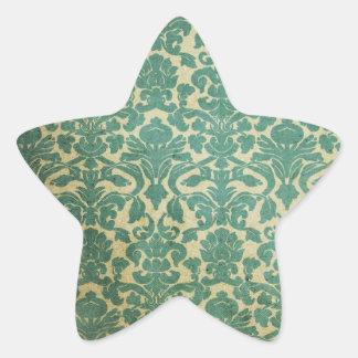 Vintage wallpaper 1 star sticker