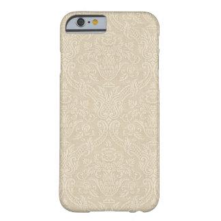 Vintage Wallpaper Beige Floral Elegant Damask Barely There iPhone 6 Case