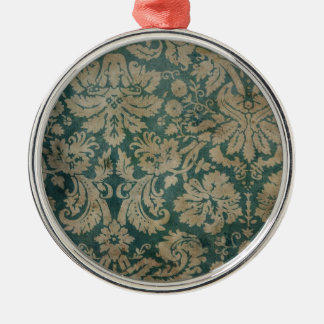 Vintage Wallpaper Silver-Colored Round Decoration
